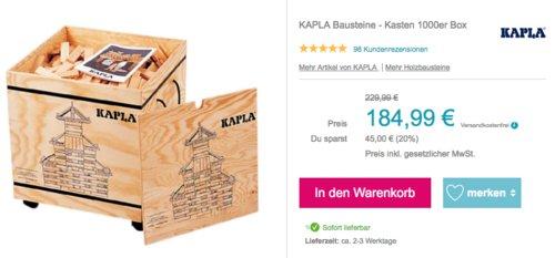 KAPLA Bausteine - 1000 Stück Kasten - jetzt 4% billiger