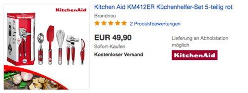 Kitchen Aid KM412ER Küchenhelfer-Set, 5-teilig - jetzt 28% billiger