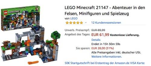 LEGO Minecraft 21147 - Abenteuer in den Felsen, ab 8 Jahre - jetzt 15% billiger