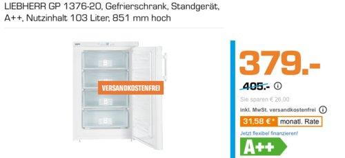 LIEBHERR GP 1376-20 Gefrierschrank, A++, 103 Liter - jetzt 5% billiger