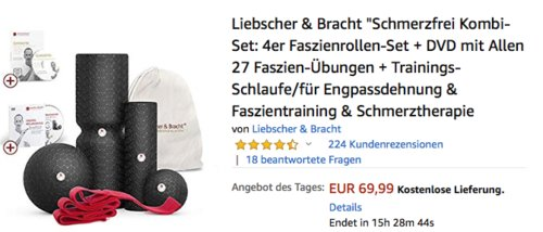 """Liebscher & Bracht """"Schmerzfrei Kombi-Set"""" für Engpassdehnung & Faszientraining & Schmerztherapie - jetzt 22% billiger"""
