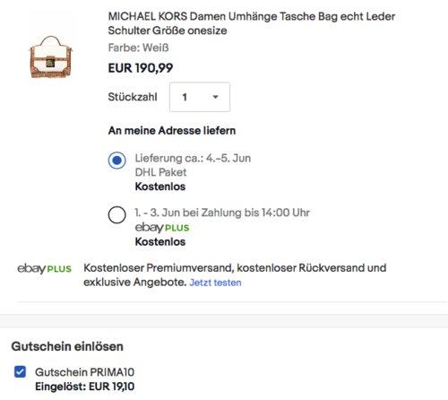 MICHAEL KORS Damen Echtleder Umhängetasche (30S7GR8M1L) - jetzt 10% billiger