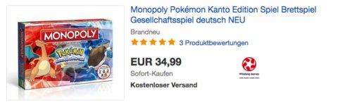 Monopoly Pokémon Kanto Edition Brettspiel, Sprache: deutsch - jetzt 22% billiger