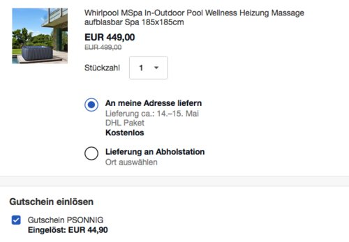 """MSpa aufblasbarer Whirlpool """"Tekapo Delight"""" für 6 Personen, 930 Liter - jetzt 10% billiger"""