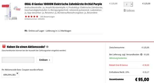 ORAL-B Genius 10000N Elektrische Zahnbürste Orchid Purple - jetzt 24% billiger