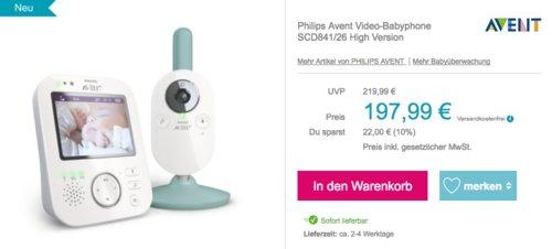 Philips Avent Video-Babyphone SCD841/26 High Version - jetzt 10% billiger