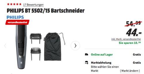 PHILIPS BT 5502/15 Bartschneider mit Lift & Trim Pro System - jetzt 20% billiger