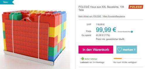 POLESIE Haus aus XXL Bausteine, 134 Teile - jetzt 7% billiger