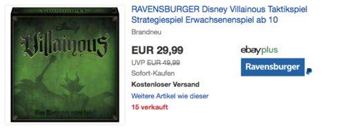 """RAVENSBURGER """"Disney Villainous"""" Strategiespiel, ab 10 Jahre - jetzt 25% billiger"""