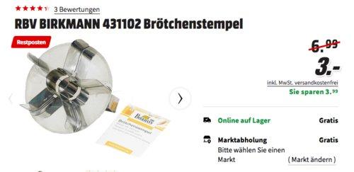 RBV BIRKMANN 431102 Brötchenstempel - jetzt 57% billiger