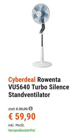 Rowenta VU5640 Turbo Silence Standventilator mit Nachtmodus - jetzt 13% billiger