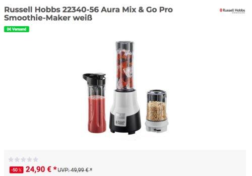 Russell Hobbs 22340-56 Aura Mix & Go Pro Smoothie-Maker, weiß - jetzt 29% billiger