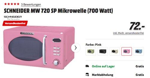 SCHNEIDER MW 720 SP Mikrowelle, pink - jetzt 10% billiger