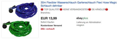 Smartfox 10m-30m Flexibler Wasserschlauch/Gartenschlauch, blau oder grün - jetzt 7% billiger