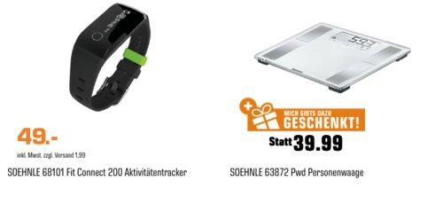 Soehnle 68101 Fitnesstracker inkl. Soehnle 63872 PWD Körperanalysewaage - jetzt 45% billiger