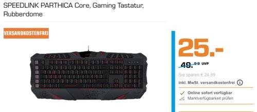 SPEEDLINK PARTHICA Core Gaming Tastatur - jetzt 42% billiger