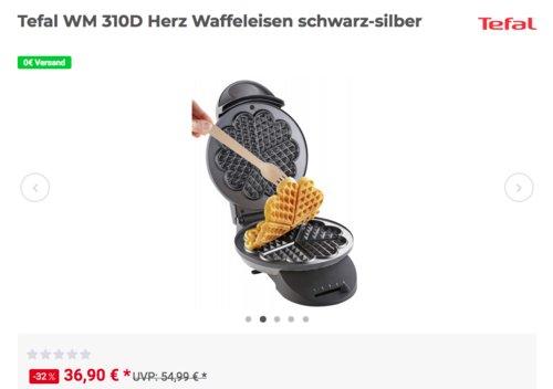 Tefal WM 310D Herzwaffeleisen, 20 cm Durchmesser - jetzt 10% billiger