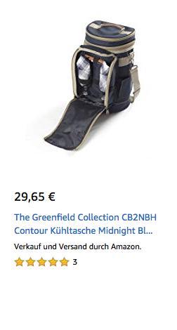 The Greenfield Collection CB2NBH Contour Kühltasche inkl. Zubehör - jetzt 24% billiger