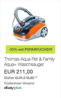 Thomas Pet & Family Aqua+ Staub- und Waschsauger, beutellos - jetzt 10% billiger