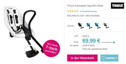THULE Lenker-Fahrradkindersitz Yepp Mini White, von 9 Monate bis 15 kg - jetzt 16% billiger
