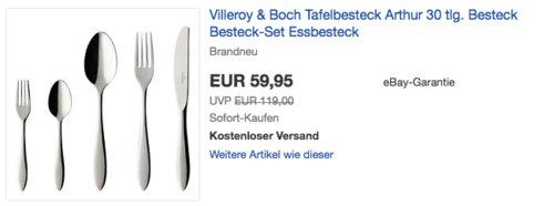 "Villeroy & Boch Tafelbesteck ""Arthur"", 30-teilig - jetzt 19% billiger"