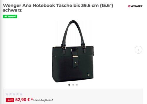 """Wenger """"Ana"""" Damen-Notebooktasche/Umhängetasche bis 39.6 cm (15.6""""), schwarz - jetzt 10% billiger"""