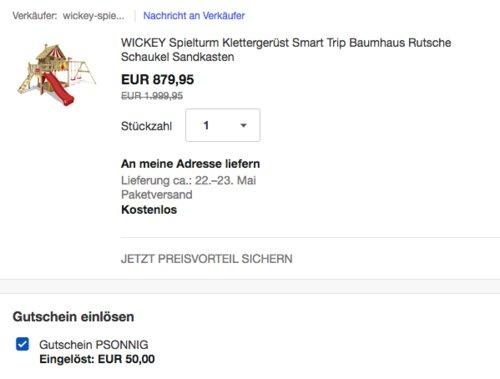 "WICKEY 817435 Spielturm"" Smart Trip"" , 560x389x338cm - jetzt 6% billiger"
