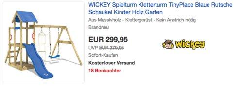 "WICKEY Spielturm/Kletterturm ""TinyPlace"", 310x260x220cm - jetzt 6% billiger"