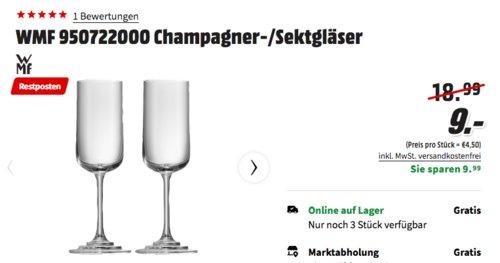 WMF 950722000 Champagner-/Sektgläser 2 Stück, 24 cm - jetzt 53% billiger