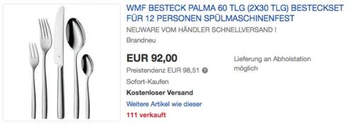 "WMF Besteck-Set ""Palma"" 60-teilig - jetzt 7% billiger"