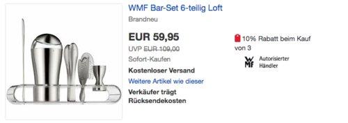 "WMF Cocktail Bar-Set ""Loft"",  6-teilig - jetzt 25% billiger"