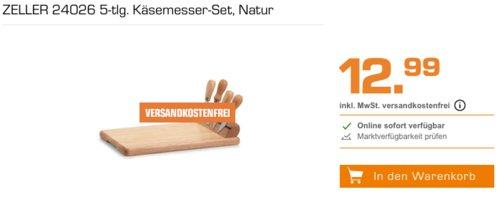 ZELLER 24026 Käsemesser-Set, 5-tlg. - jetzt 48% billiger