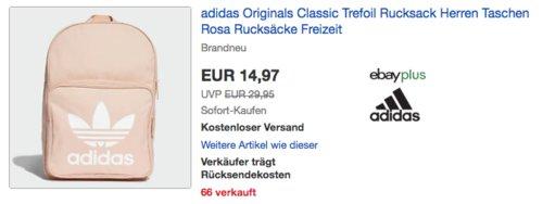 adidas Originals Classic Trefoil Rucksack 28,5x42x15 cm, rosa - jetzt 29% billiger