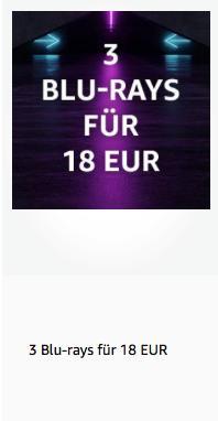 Amazon: 3 Blu-rays für 18 EUR bis 16.6.2019 - jetzt 59% billiger