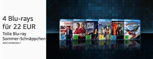 Amazon: 4 Blu-rays für 22 EUR bis 23.6.2019 - jetzt 61% billiger