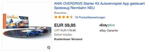 Anki Overdrive Starter Kit, App-gesteuerte Autorennbahn inkl. 2  Supercars - jetzt 24% billiger