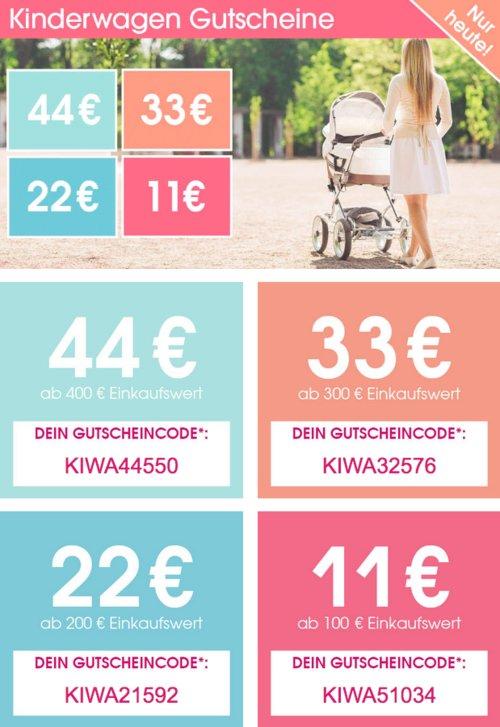 Babymarkt.de - bis zu 44€ Rabatt am 16.6.19 auf Kinderwagen: z.B. Kinderkraft Kombikinderwagen 2 in 1 Moov black oder navy - jetzt 16% billiger