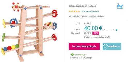 "beluga Kugelbahn ""Rollipop"", 66 x 10 x 56,5 cm - jetzt 20% billiger"
