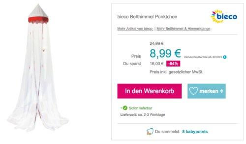 """bieco Betthimmel """"Pünktchen"""", 240x40 cm - jetzt 22% billiger"""