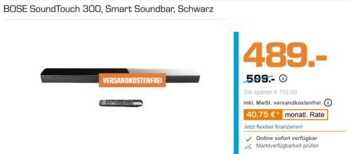 BOSE SoundTouch 300 Soundbar, schwarz - jetzt 9% billiger