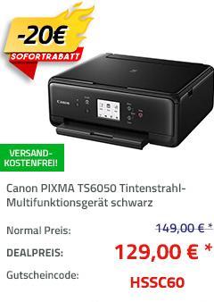 Canon PIXMA TS6050 3-in-1 Tintenstrahl-Multifunktionsgerät, A4 - jetzt 13% billiger
