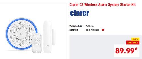clarer C3 Wireless Alarm System Starter Kit (Zentrale, Tür-/Fenstersensor und Fernbedienung) - jetzt 5% billiger