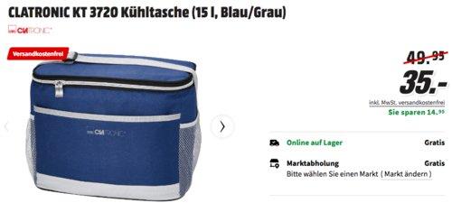 CLATRONIC KT 3720 15 Liter Kühltasche, blau/grau - jetzt 19% billiger