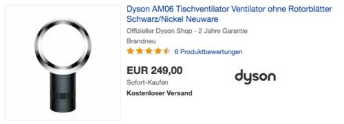 Dyson AM06 Tischventilator, schwarz/nickel - jetzt 17% billiger