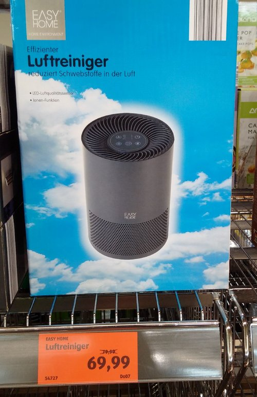 EASY HOME® Luftreiniger, schwarz - jetzt 13% billiger