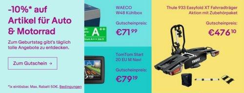 Ebay - 10%-Gutschein für Auto- & Motorradzubehör: z.B. MFT 8200 Multi-Cargo2-Family Fahrradheckträger - jetzt 10% billiger