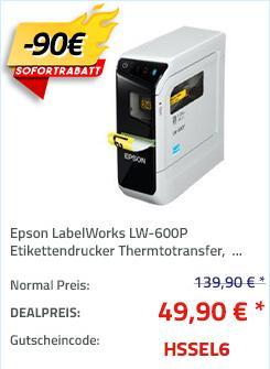Epson LabelWorks LW-600P Etikettendrucker für Computer, IOS- oder Android (180 dpi, Bluetooth) - jetzt 62% billiger