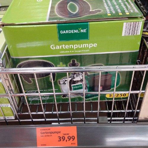 GARDENLINE Gartenpumpe inkl. 4 m Saugschlauch - jetzt 20% billiger