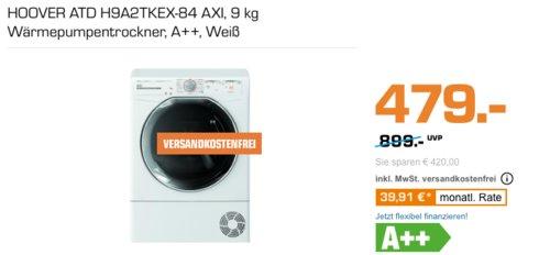 HOOVER VTH 980 NA2C-84 8 kg Wärmepumpentrockner, A++ - jetzt 7% billiger