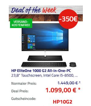 "HP EliteOne 1000 G2 23,8"" Zoll Touchscreen All-in-One-PC (Intel Core i5-8500, 16GB RAM, 512GB SSD, Win10 Pro ) - jetzt 24% billiger"